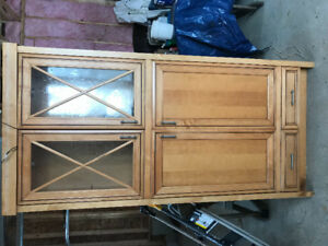 Kraftmaid Solid Maple Cabinet with Lights
