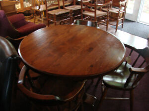 Solid Round Pine Table