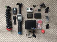 GoPro Hero 4 Black - loads of official accessories (Screen add on, gopole gorilla pod etc).