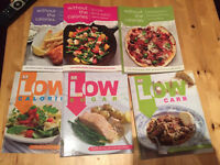 Low calorie, low carb and low sugar cookbooks - losing weight dieting slimminh