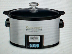 NEW CUISINART 3,5  QUART SLOW COOKER - PSC-350C