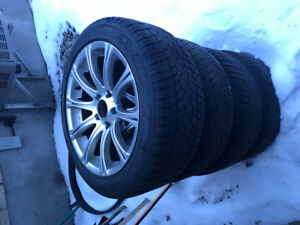 Winter tires with wheel 225 50 17