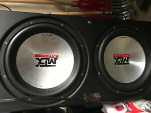 2 12 inch mtx subs, 1200w kicker amp a converter and 2 TVs