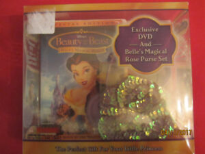 Beauty and the Beast DVD Set with Belle's Magical Rose Purse NEW
