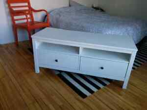 Meuble TV / TV bench ikea Hemnes blanc