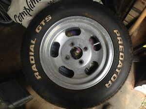 13in slotted aluminum rims