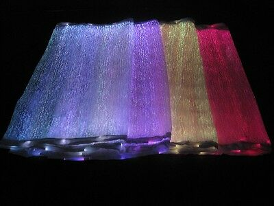 RGB LED Light up Fiber Optic Fabric to Make Clothing (100×140 cm,two batteries)](Led Light Up Clothing)