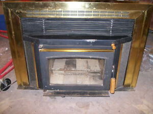 air tight wood buring fireplace insert
