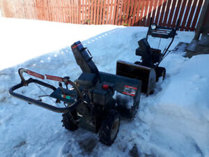 2 snowblowers