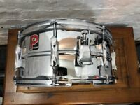 "Vintage Premier Beaded Steel Snare Drum 14"" x 6"""