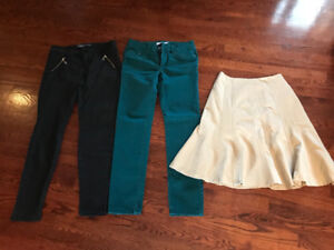 Skirt and 2 pairs of pants for women $5 each