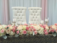 BRIDE & GROOM CHAIR or SOFA Rent - CHEAPEST ! SAVE OVER $200