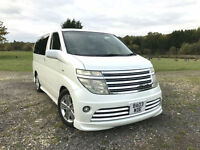 TOP OF THE RANGE 2003 NISSAN ELGRAND RIDER AUTEC 3.5 V6 AUTO PEARL WHITE