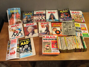 MAD magazines and books