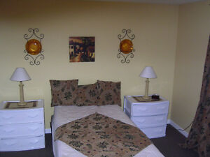 Large Bedroom with Attached Private Bathroom & Living Room