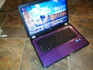 laptop HP  couleur mauve
