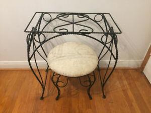 WROUGHT IRON BEDROOM TABLE MAKEUP VANITY SET