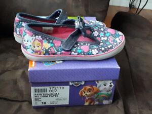 Paw patrol toddler girls shoes size 10