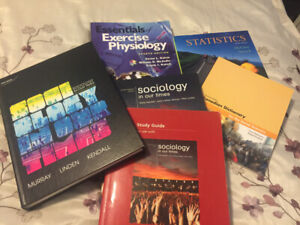 Textbooks for sale.