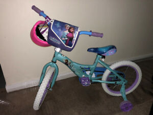 Disney Frozen Kids' Bike (14-inches) & helmet