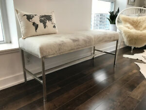 Stylish Cowhide Bench for sale!
