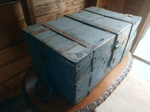 Heavy Antique Treasure Chest -Used on the set of Once Upon a Tim