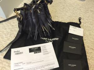 Authentic saint Laurent emmanuelle small bucket bag