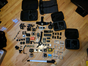 GoPro package - (hero 3&4 black)  accessories and mounts