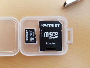 Patriot 64 GB Micro SDXC - Class 10, U-1 Kitchener / Waterloo Kitchener Area image 1