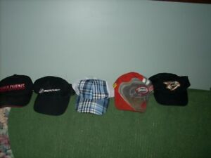 mens hats and 1 lady bud lite hat