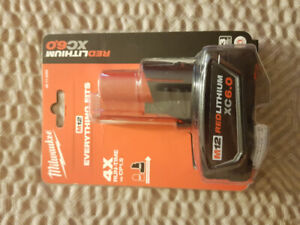 BNIB Milwaukee M12 RedLithium XC6.0 Battery