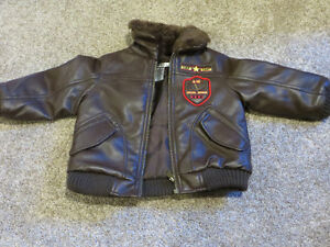 Boys size 2 Aviator Jacket EUC
