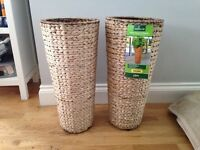 Two plant baskets