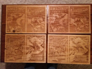 Spiderman Comic Book Covers - Wooden Etched & Stained