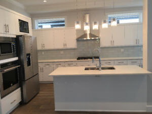 Acrylic High Gloss European Frameless Kitchen Cabinets-Edmonton
