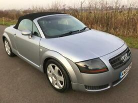 2005 AUDI TT ROADSTER 1.8 SILVER CONVERTIBLE SUPERB CONDITION