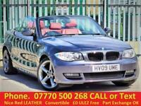 2009 BMW 1 Series 118 i SE CONVERTIBLE . RED LEATHER. Part X OK . £0 ULEZ Free C