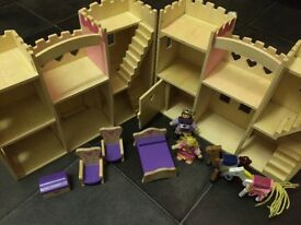Melissa & Doug wooden pink play castle