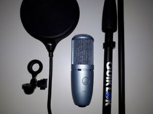 AKG Perception 120 Condenser Mic w/ Cable, Stand & Accessories