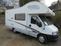 Swift Sundance 600S 4 Berth, 2 Belts, with large End Washroom Motorhome