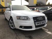 Audi A6 S Line Saloon 2.0TDI Diesel Manual 2008 Rare White ** Full MOT