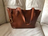 Ralp Lauren Newbury Brown Leather Tote bag