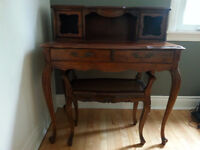 Antique Writing Desk and Bench