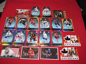 20 different McDonald's hockey insert cards