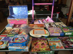 Toys, Books, Games, Puzzles, Barbies and stuffed Animals