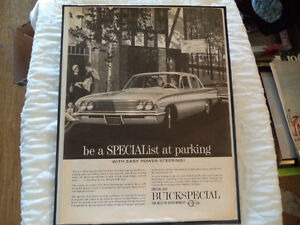 OLD BUICK  CLASSIC CAR FRAMED AD Windsor Region Ontario image 5