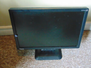 Computer Monitor and Keyboard used