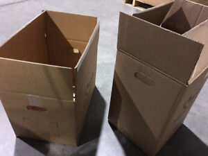 Moving boxes with handles, super heavy duty double wall!
