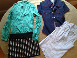 Collection of women's size small clothing (vintage, brand name)