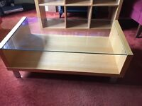Coffee table and book shelves/ display case